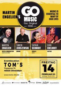 "Fr. 14.02.2020 Live im Toms - Martin Engeliens ""Go Music"""